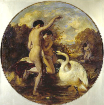 Etty William. Bathers surprised by a Swan