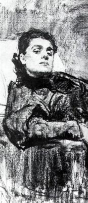 Илья Ефимович Репин. Портрет Элеоноры Дузе. Фрагмент