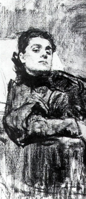 Ilya Efimovich Repin. Portrait Of Eleonora Duse. Fragment
