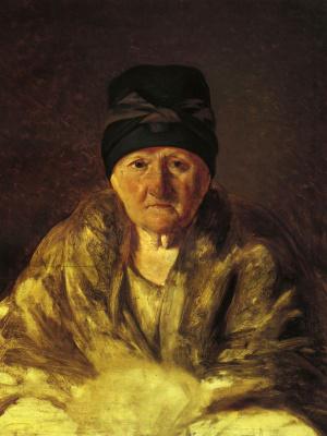 Alexey Gavrilovich Venetsianov. Old babysitter in slycke