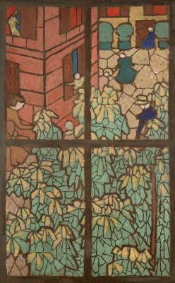 Жан Эдуар Вюйар. Каштаны. Эскиз для витражного окна Тиффани