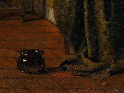 Pieter de Hooch. Bedroom. Fragment