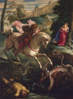 Jacopo (Robusti) Tintoretto. Saint George