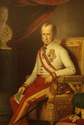 Anton Ainslie. Portrait of Emperor Ferdinand V the Good