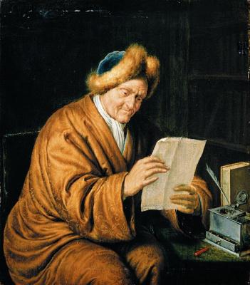 Франц ван Мирис Старший. Пожилой мужчина