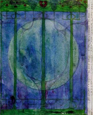 Charles Rennie Mac. Floral motif 7