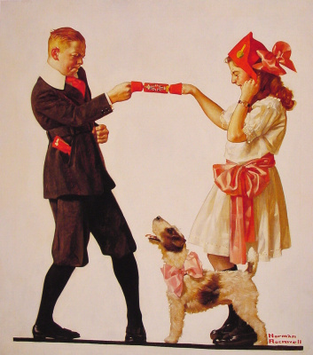 Norman Rockwell. Party favors