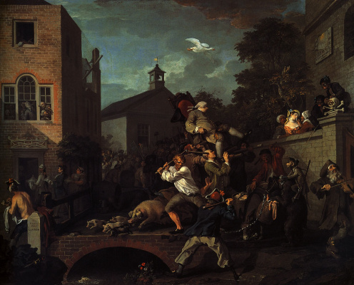 William Hogarth. Elections. The triumph of deputies