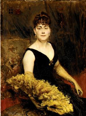 Джованни Больдини. Миссис Уоррен-Крам (Элла Брукс Картер) 1885
