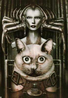 Ганс Рудольф Гигер. Кот и женщина
