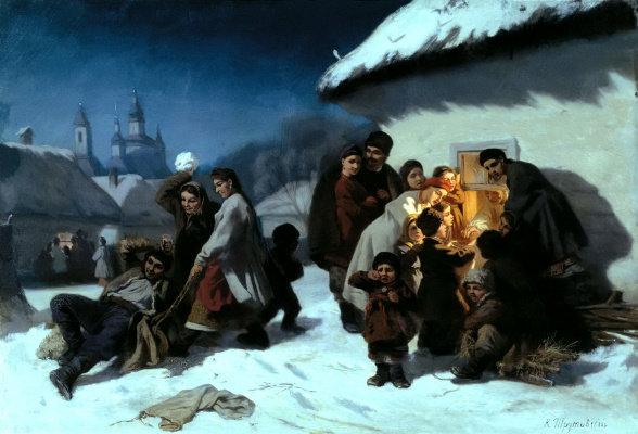Konstantin Aleksandrovich Trutovsky. Christmas carols in little Russia