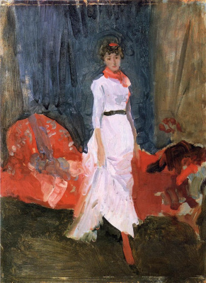 James Abbot McNeill Whistler. Arrangement in pink, red and purple