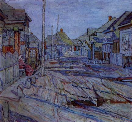 Абрам Аншелевич Маневич. Village street