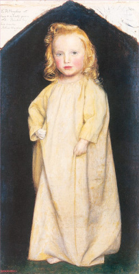 Arthur Hughes. Portrait of Edward Robert Hughes at the age of two and a half
