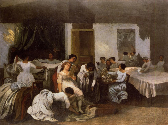 Gustave Courbet. The dressing of the bride