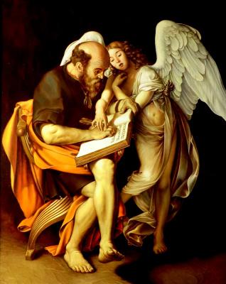 Valery Vasilyevich Litvinov. Apostle Matthew and Angel (copy of Caravaggio)