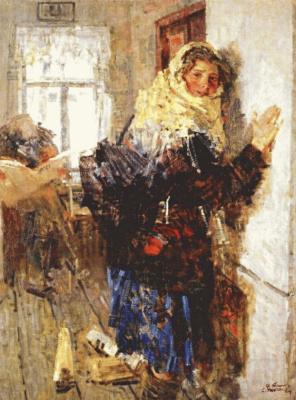 Алексей Ткачев. Девушка почтальен зимой рано
