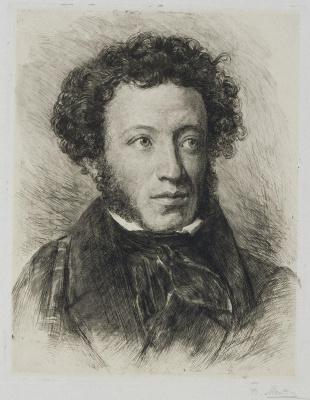 Vasily Vasilyevich Mate. Portrait Of Alexander Pushkin