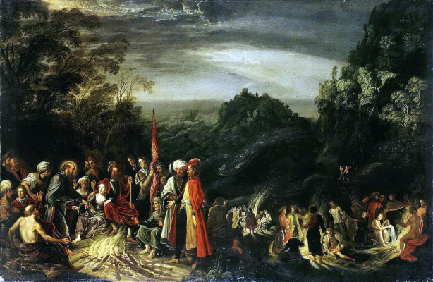 Давид Тенирс  Старший. Чудо апостола Павла на острове Мальта