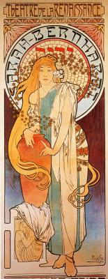 "Alphonse Mucha. Poster for Sarah Bernhardt ""the Samaritan woman"""