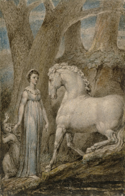 William Blake. White horse. Ballads By William Hayley