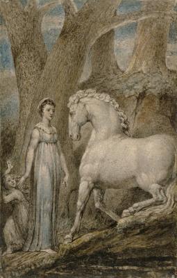 William Blake. White horse. Ballads By William Hayley