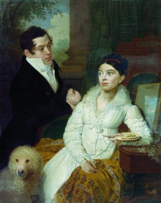 Vladimir Lukich Borovikovsky. Portrait of Prince Alexei Alexandrovich Lobanov-Rostovsky and his wife Alexandra Grigorievna, born Kusheleva