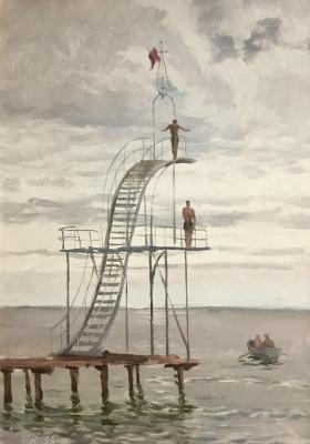Георгий Григорьевич Нисский. Вышка для прыжков