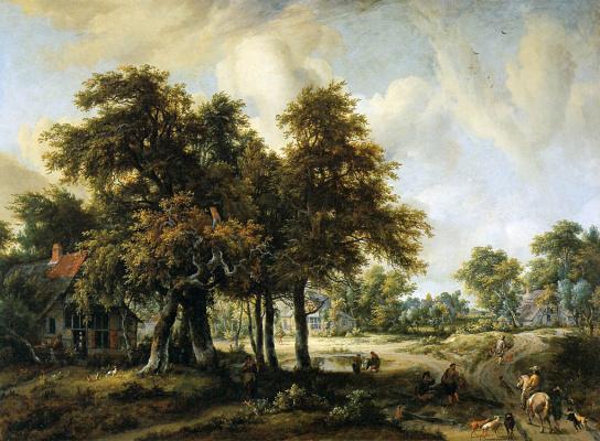 Maydert Hobbema. Forest