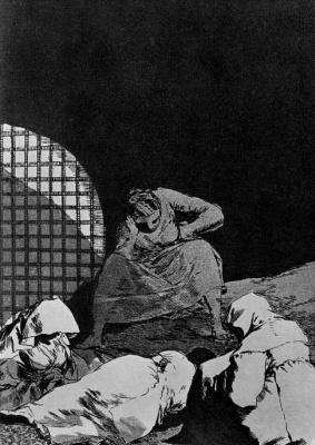 "Francisco Goya. ""Get sleep"" (Series ""Caprichos"", page 34)"