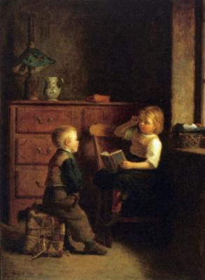 Пьер Эдуард Фрер. Двое детей
