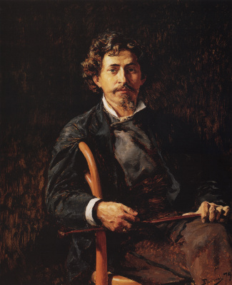 Vasily Dmitrievich Polenov. Portrait of the artist Ilya Repin