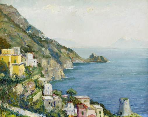 Edward Cucouel. Gulf of Salerno, Amalfi.