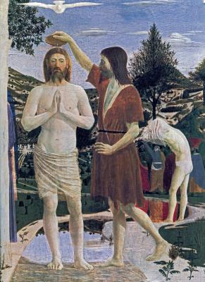 Piero della Francesca. Baptized (fragment)