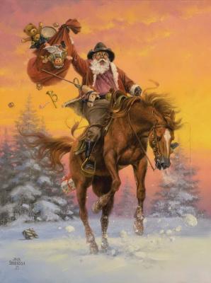 """Джек Соренсон. Лошадь Санты """"Дух Рождества"""""""