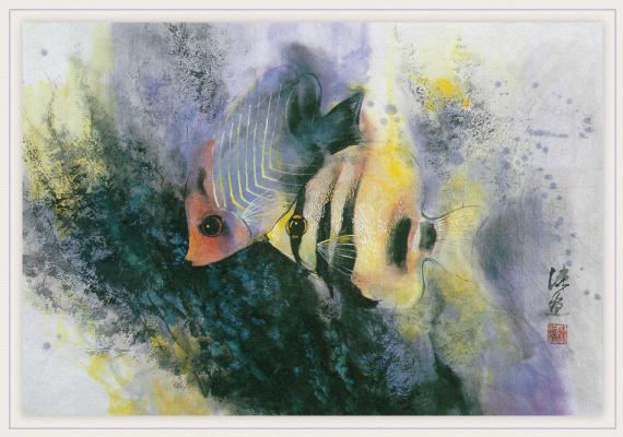 Чжэнь Лин-Куан. Две рыбы бабочки