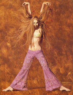 Robert McGinnis. Long-haired beauty