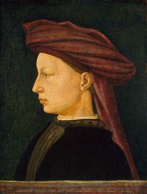 Tommaso Masaccio. Portrait of a young man in profile
