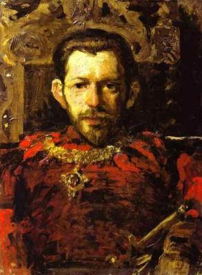 Konstantin Korovin. Portrait Of Sergei S. Mamontov
