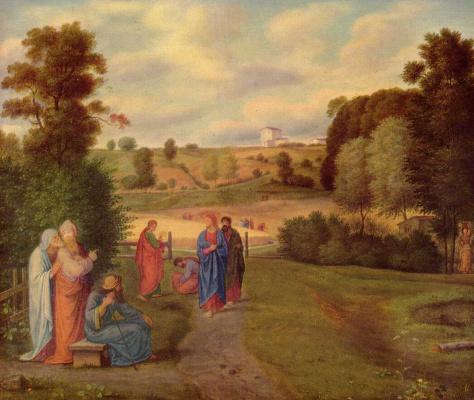 Фердинанд Оливье. Иисус с апостолами