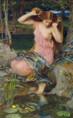 John William Waterhouse. Witch at the pond