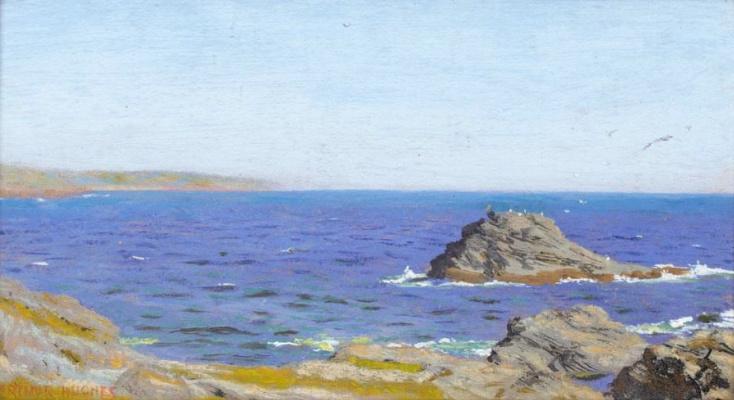 Артур Хьюз. Летний пейзаж на побережье
