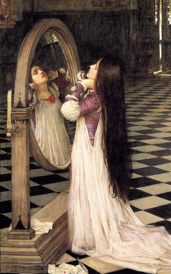 John William Waterhouse. Mariana in front of the mirror