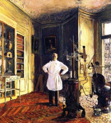 Jean Edouard Vuillard. Doctor-dentist Louis Vilo in his office