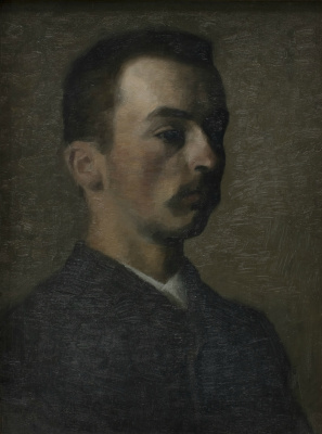 Vilhelm Hammershøi. Self-portrait