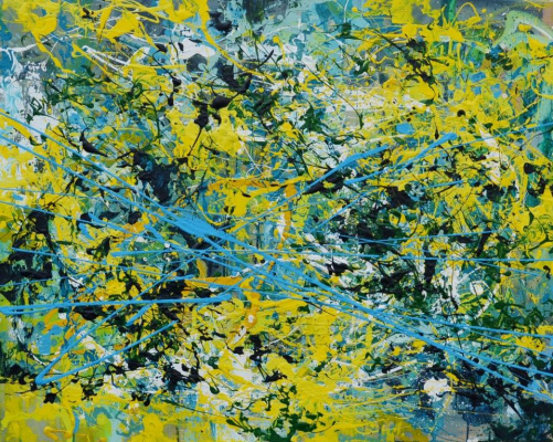 Tanya Vasilenko. Flash, Flash Painting, Acrylic on Canvas