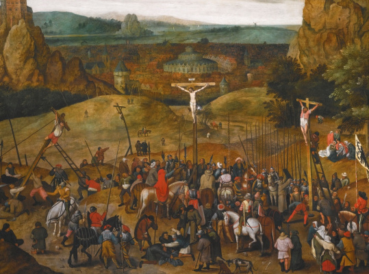 Peter Brueghel the Younger. Calvary. Fragment. The crucifixion