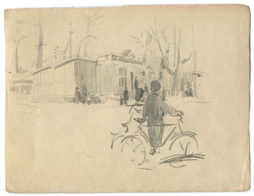 Alexandrovich Rudolf Pavlov. Sketch. Izhevsk 1957