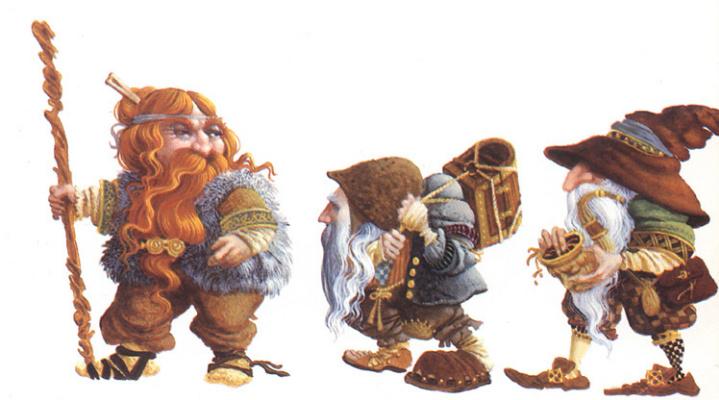 James Christensen. Three dwarf