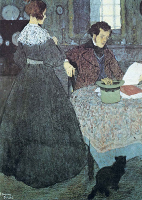The lady and the man at the table